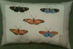 Butterfly Fabric Decorative Cushion - Handmade
