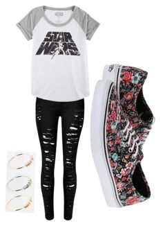 """Untitled #369"" by bleeding-neverland on Polyvore featuring Hybrid, ASOS and Vans"