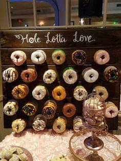 Wood Rustic Custom Donut Wall Board - Up to 84 Donuts - Wedding . Wood Rustic Custom Donut Wall Board - Up to 84 Donuts - Wedding Decorations! Wedding Donuts, Wedding Desserts, Wedding Decorations, Donut Wedding Cake, Wedding Cakes, Wedding Centerpieces, Perfect Wedding, Fall Wedding, Rustic Wedding