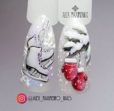 58 Ideas for holiday nails new years christmas xmas - Xmas Nails - Winter Nail Designs, Christmas Nail Designs, Short Nail Designs, Cool Nail Designs, Holiday Nail Art, Winter Nail Art, Christmas Nail Art, Winter Nails, Green Christmas