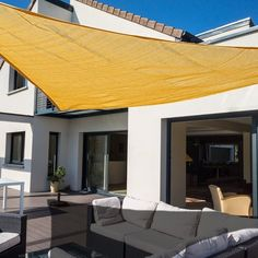 Stay cool on the patio this summer with a sunshade. These large sails can be easily attached to any sturdy structure in the garden and provide cool shade all day long. They are easy to put and to move, so you can keep relocating them as you move around the garden. Click through to buy yours.
