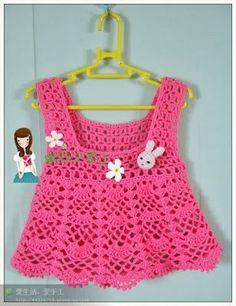 Croche pro Bebe pink1a