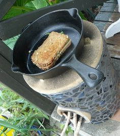 small portable rocket stove to use in the summer for outdoor cooking