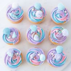 mermaid cupcakes