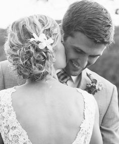 Sweet Loving Kiss from the Bride to the Groom