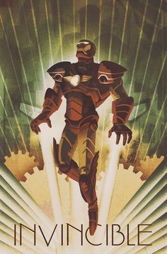 Retro-futuristic Iron Man