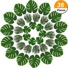 Hicarer 36 Pieces 2 Kinds Artificial Palm Leaves Faux Palm Tree Leaf Fake Monstera Tropical Leaves for Decoration, Green *** You can get additional details at the image link. (This is an affiliate link) Artificial Palm Leaves, Palm Tree Leaves, Tropical Leaves, Tropical Plants, Artificial Plants, Palm Trees, Plant Leaves, Monstera Leaves, Safari Theme Birthday