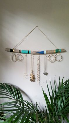 Organisateur de bijoux bois flotté 2 pi tenture par NWUrbanCottage