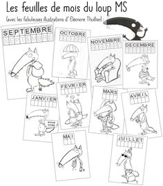 Le loup - Les fiches de mois Read In French, French Class, How To Speak French, French Alphabet, Wolf, Petite Section, Grande Section, Ms Gs, School Fun