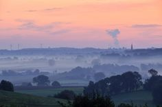 A misty scene from the south Limburg country side, near the village of Vijlen, the Netherlands. © Wiel Koekkoek