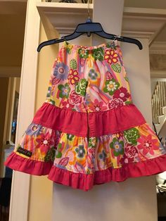 Honesty Naartjie Xs 3t Skirt Orange Tiered Ruffles Embroidered Beaded Cotton Clothing, Shoes & Accessories Girls' Clothing (newborn-5t)