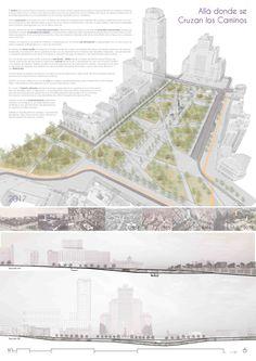 Estas son las propuestas que compiten para remodelar la Plaza España en Madrid,Allá donde se cruzan los caminos. Image © Difusión Ayuntamiento de Madrid