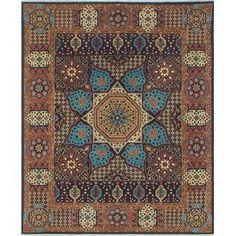 Noori Rug Aria Fine Chobi Penton Blue/Ivory Rug - x (Wool, Oriental) Wool Area Rugs, Beige Area Rugs, Wool Rugs, Blue Ivory, Blue Gold, Aries, Gold Rug, Natural Rug, Rug Cleaning
