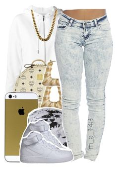 """""""busy busy busy ."""" by mindlesslyamazing-143 ❤ liked on Polyvore featuring Yves Saint Laurent, MCM, Stussy, Wet Seal and NIKE"""