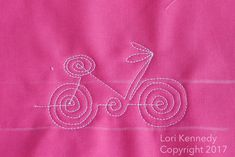 The Bicycle-A Machine Quilting Tutorial   The Inbox Jaunt
