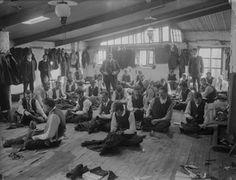 Tailors At Work in Hearne's at The Quay, Waterford (Thursday, 25 July [National Library Of Ireland] Thing 1, Edwardian Era, Vintage Images, Vintage Photographs, White Photography, Old Photos, The Past, Old Things, Stock Photos