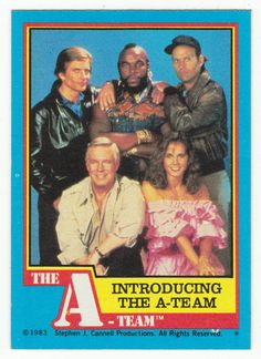 A-Team # 1 Introducing the A-Team - Topps 1983
