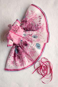 Hanky dress set ≈ Step 35 | 35. Stitch a band of silk ribbon… | Flickr