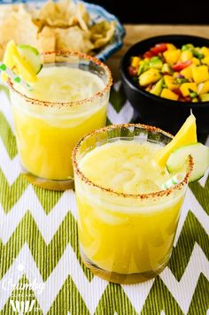 Cucumber Pineapple Margarita   A cool, smooth margarita, made with fresh lime, cucumber and pineapple, and pureed with your favorite tequila.