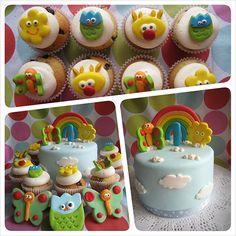 torta con nubes y arcoiris Rainbow Birthday Party, Baby Boy Birthday, Bday Girl, 1st Birthday Parties, Billy Bambam, Baby Tv Cake, Baby First Tv, 1st Bday Cake, Twins 1st Birthdays
