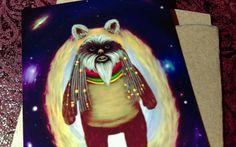 ACEO Art Card Ewok Star Wars Wookie Universe Reggae FAN ART Signed Free Ship. #Miniature
