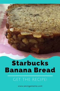 Starbucks Copycat Banana Bread, so delicious! Here's how to make it!       …