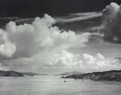 San Francisco Bay before the Golden Gate Bridge (cerca 1932) by Ansel Adams. Today (2/20) is Adams's birthday.
