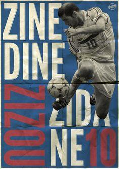 Zinedine Zidane Poster by Luke Barclay, via Behance Football Soccer, Football Players, Sports Graphic Design, Football Design, Soccer Coaching, Sports Graphics, Football Wallpaper, Zinedine Zidane, Arsenal Fc