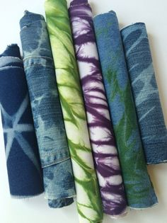 Denim Shibori Upcycled Demim by CapeCodShibori on Etsy
