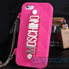 Moschino iphone 5 case with Chain Holder, free shipping! Quality finishing and resistant material Stylish, handy, and innovative