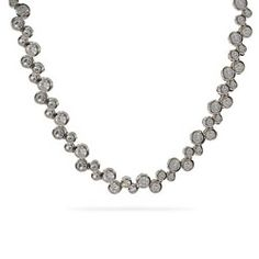 Tiffany Style Sterling Silver CZ Bubbles Necklace