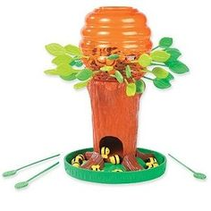 Honey Bee Tree game. Can be modified for articulation therapy. $20 on Amazon or search at thrift stores.