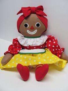 "Mammy Doll, Knickerbocker 15"" Style 1965,. Handmade Reproduction, by Joan Oest."
