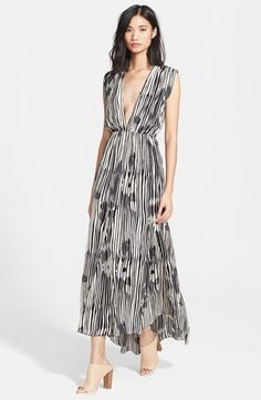 Alice + Olivia 'Lexa' Print Silk Maxi Dress