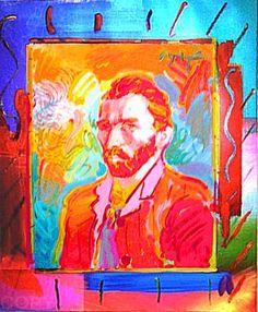 Peter Max, Van Gogh, Acrylic on Canvas, Original Mary And Max, Peter Max Art, Jasper Johns, Carl Sagan, Artist Profile, Arts Ed, Art Classroom, Psychedelic Art, Surreal Art