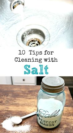 10 Tips for Cleaning With Salt - Vintage Household Tip - The Graphics Fairy