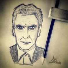 Sketch of Twelve.  Peter Capaldi, Doctor Who. By Spookaap.nl