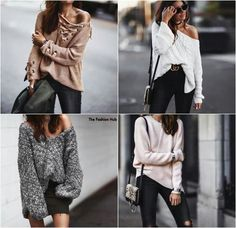 Ootd- off the shoulder sweaters- fashion forward to try this season