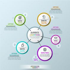 Modern Infographic Options Template PSD, Vector EPS, AI Illustrator