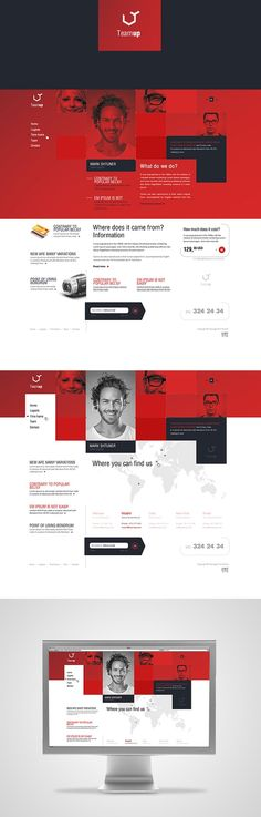 red and black web design