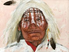 fine oil native american paintings | Ghost Shaman Painting by J W Baker - Ghost Shaman Fine Art Prints and ...