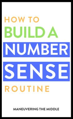 In a math intervention class, building number sense is critical and can have a lasting impact on students. Here are my suggestions for how to build a number sense routine in your middle school math classroom. | maneuveringthemiddle.com #mathintervention #numbersense #mathteacher #middleschool