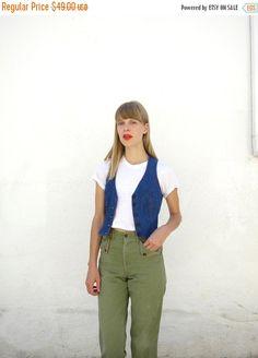 Jeans-Weste 70er Jahre Sz. S von fairseason auf Etsy