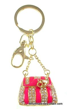 Keychains & handbag charms,2 in 1,Rhinestone and Enamel base metal plated,AFE046 : OK Charms, China Wholesale Jewelry Accessories Marketplace