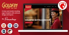 awesome Goldfin Lodge, SPA, Bar- HTML Touchdown Web page Template (Touchdown Pages)