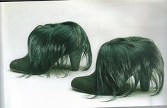 Elsa Schiaparelli Monkey Fur Shoes (1938)