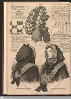- Der Bazar - Page - Digitale Sammlungen - Digital Collections 1800s Fashion, Victorian Fashion, Vintage Fashion, Victorian Costume, Victorian Era, Historical Costume, Historical Clothing, Vintage Knitting, Vintage Sewing Patterns
