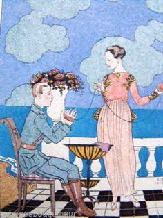 Omphale-composition-de-George-Barbier-Gravure-authentique-de-1918