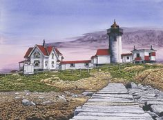 Eastern Point Lighthouse by Thelma Winter