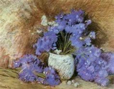 Cornflowers by Stefan Luchian. still life Impressionist Art, Impressionism, Art Database, Still Life Art, Art History, Flower Art, Art Nouveau, Modern Art, 1 Februarie